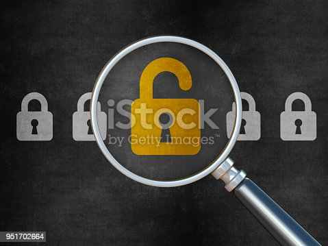 957759714istockphoto Padlock on chalkboard background 951702664