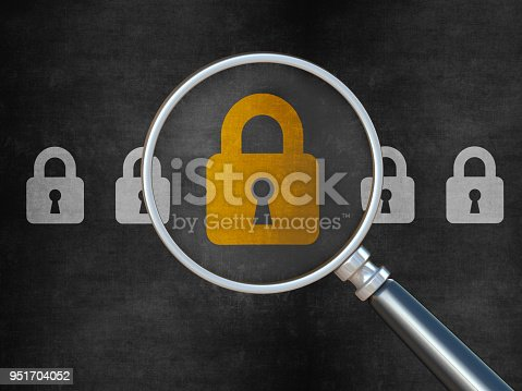 957759714istockphoto Padlock on chalkboard background 951704052