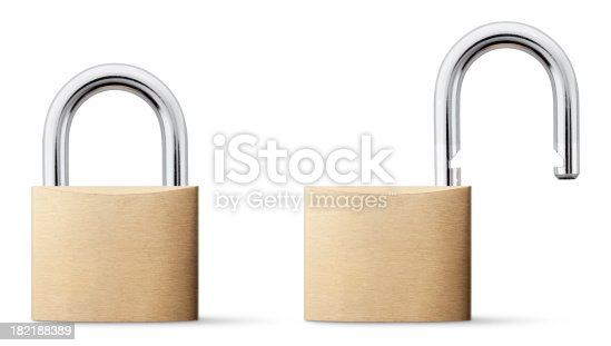 Padlock open and closed. Photography with clipping path in high resolution. Similar photographs from my portfolio: