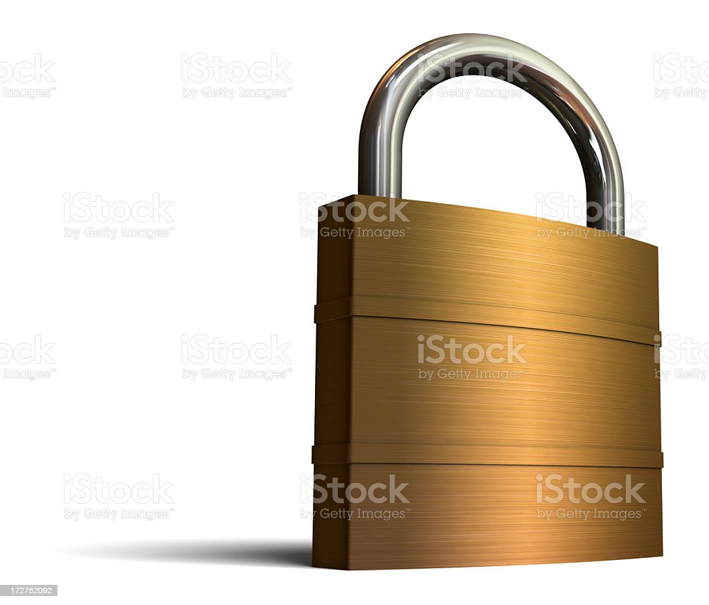 XXL Padlock royalty-free stock photo