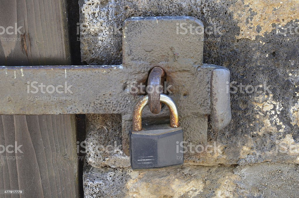 padlock royalty-free stock photo