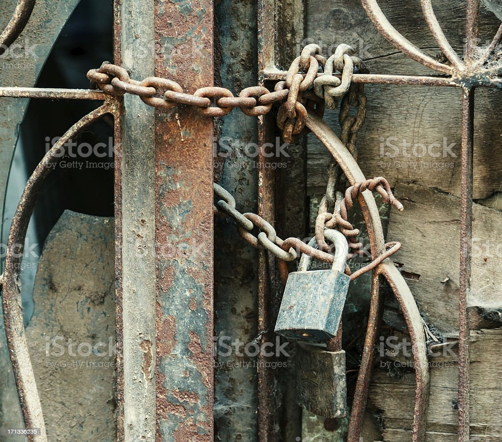 padlock with chain royalty-free stock photo