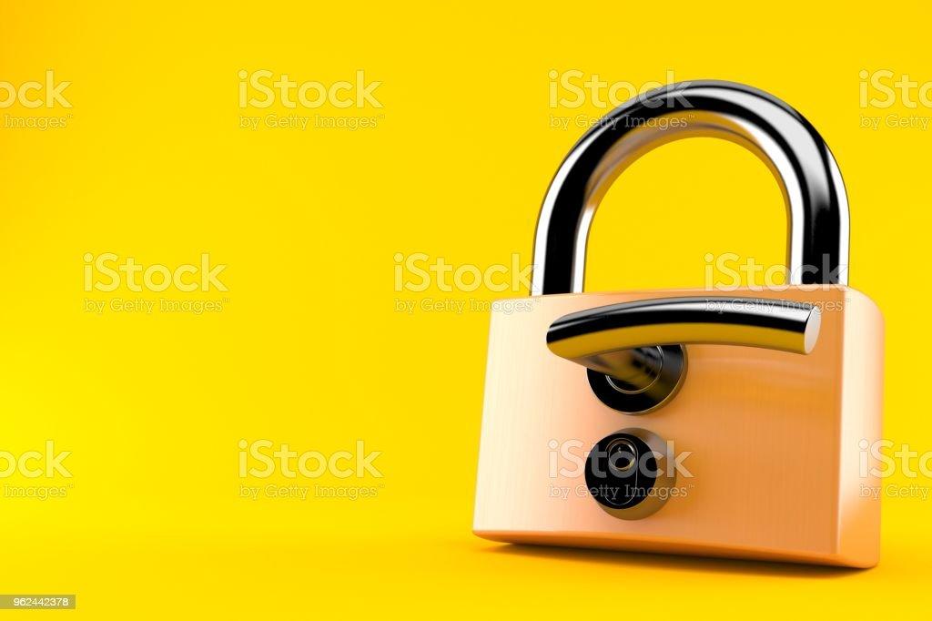 Padlock with door handle stock photo