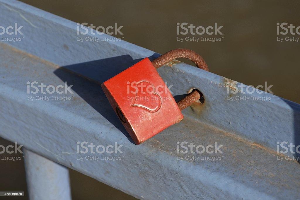 padlock with heart stock photo