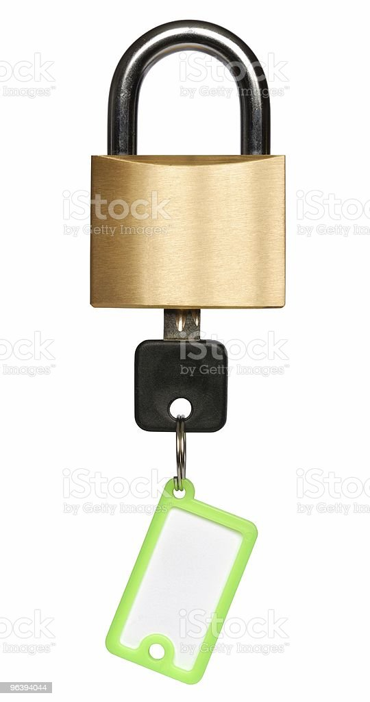 Padlock with Key - Royalty-free Color Image Stock Photo