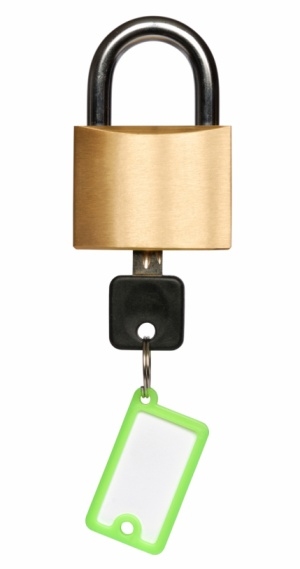Padlock With Key Stock Photo - Download Image Now