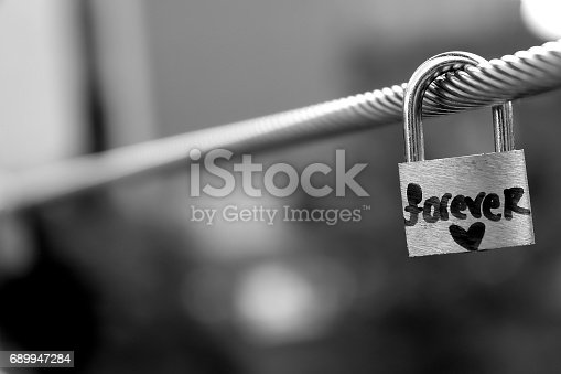 istock A padlock with the word
