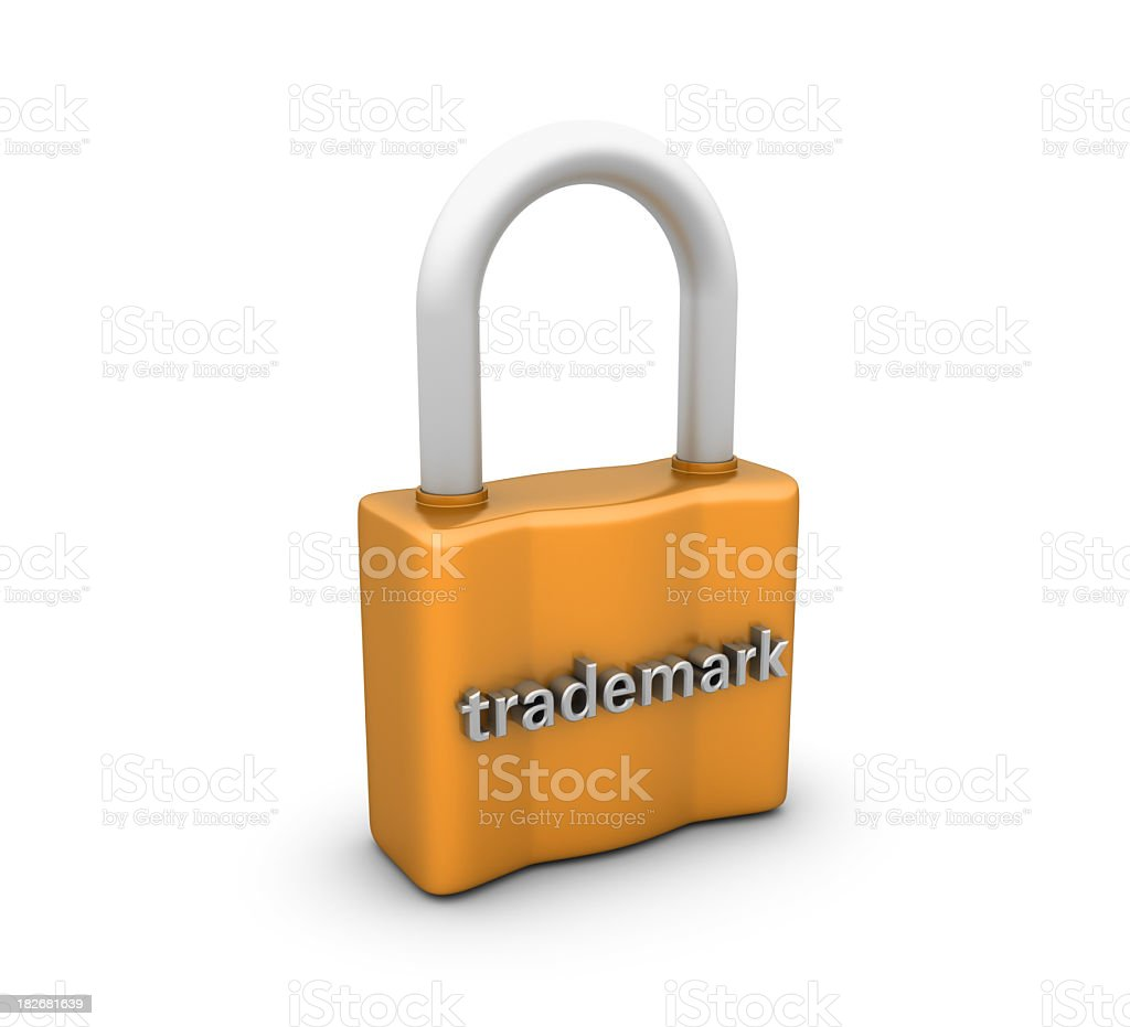 Padlock with Trademark Word royalty-free stock photo