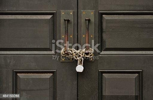 istock padlocked wooden door 454153285