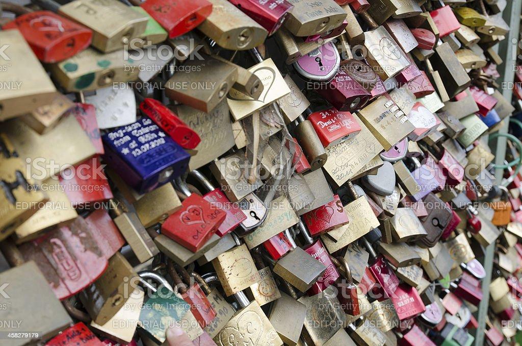 Padlocks of Love stock photo
