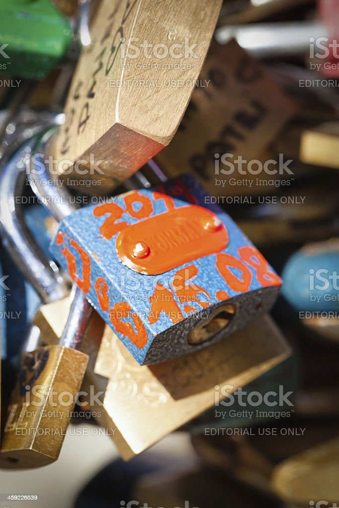 Padlocks royalty-free stock photo