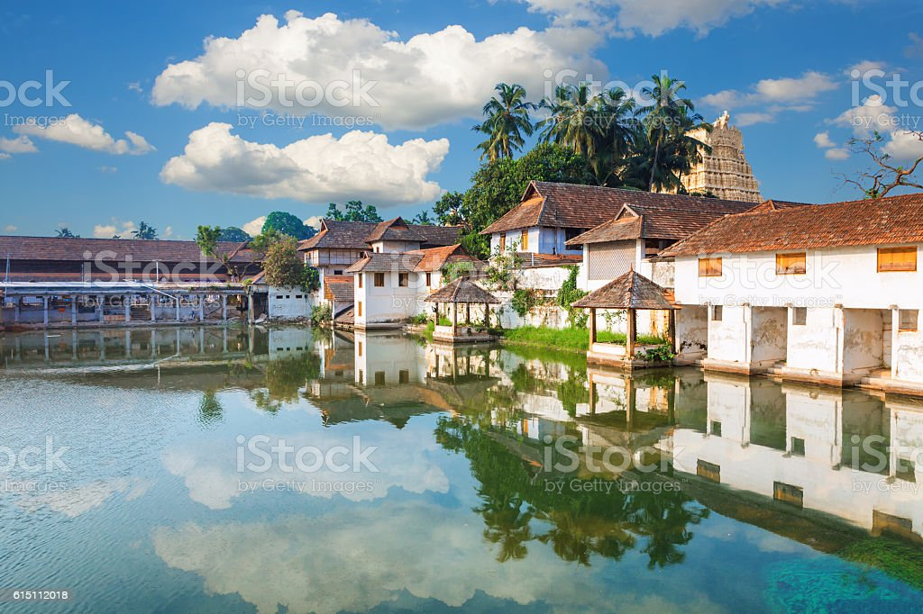 Padmanabhapuram Palace in front of Sri Padmanabhaswamy Trivandrum Kerala India stock photo