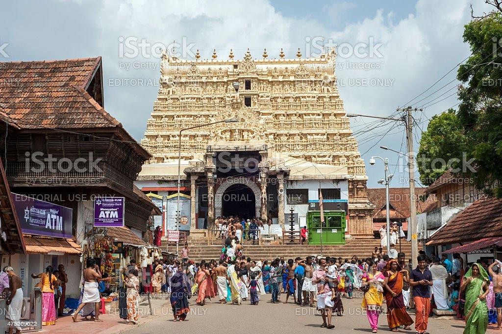 Padmanabhaswami temple stock photo