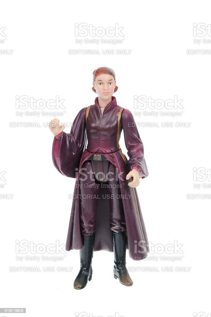 Padme Amidala Action Figure stock photo