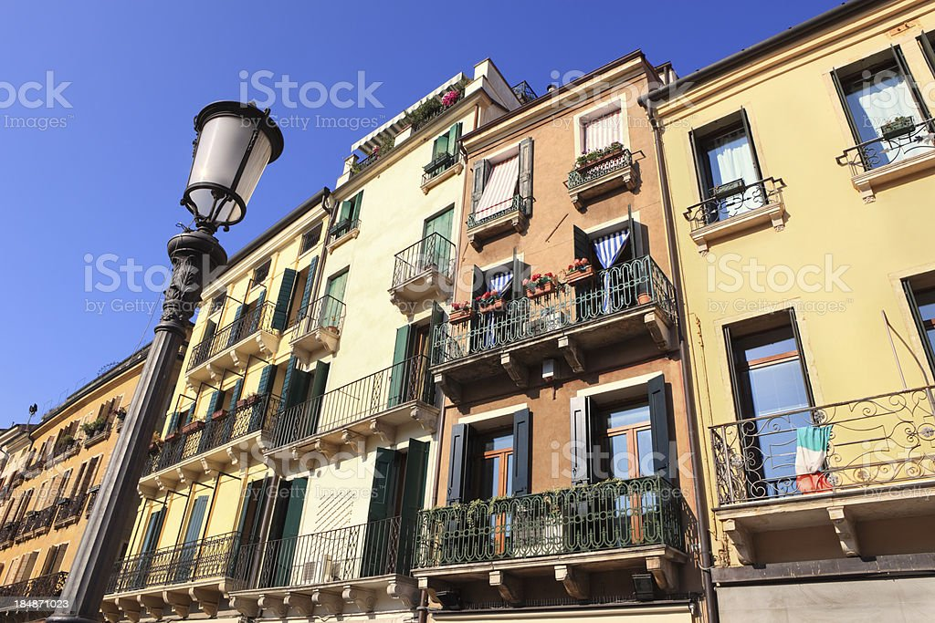 Padova facades, Padua Veneto Italy royalty-free stock photo