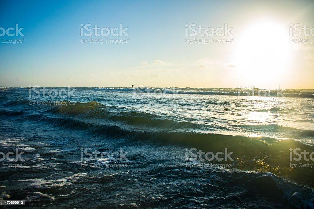 Padre Island Texas Coastline Waves Crashing Beach Stock Photo & More