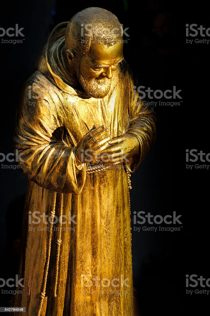 Padre Pio stock photo