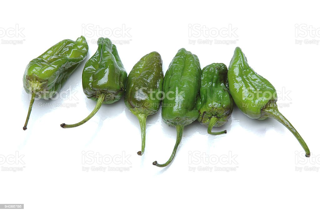 Padron pepper's royalty-free stock photo