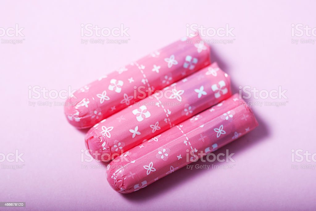 tampons stock photo