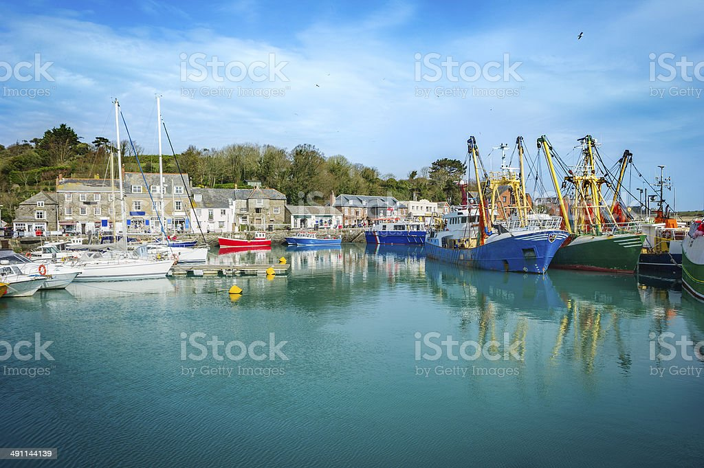 Padstow harbor stock photo