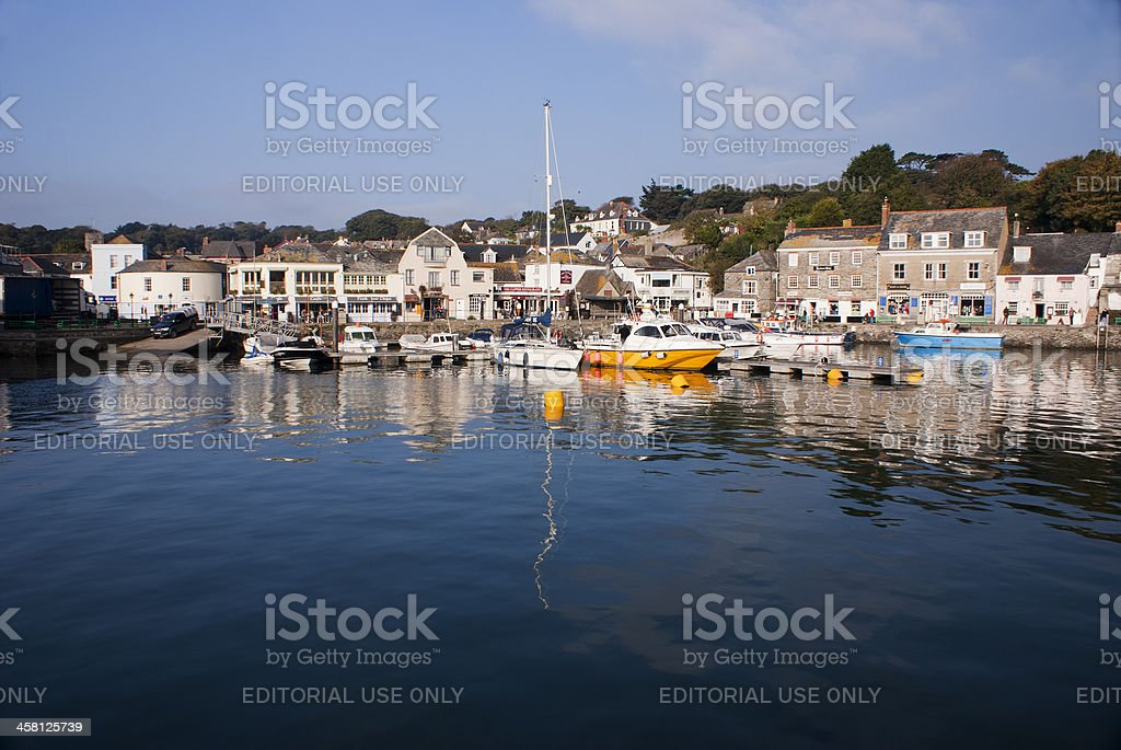 Padstow Harbour and fishing boats,North Cornwall stock photo