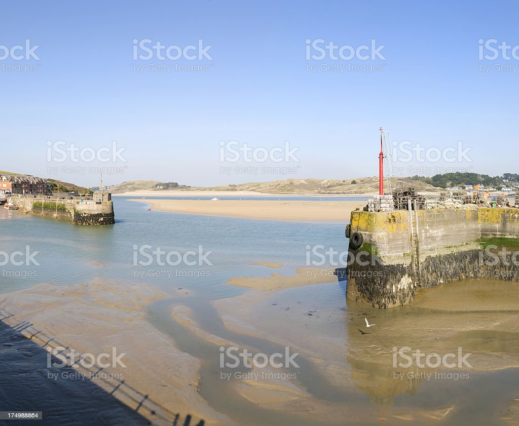 Padstow Harbour Entrance stock photo