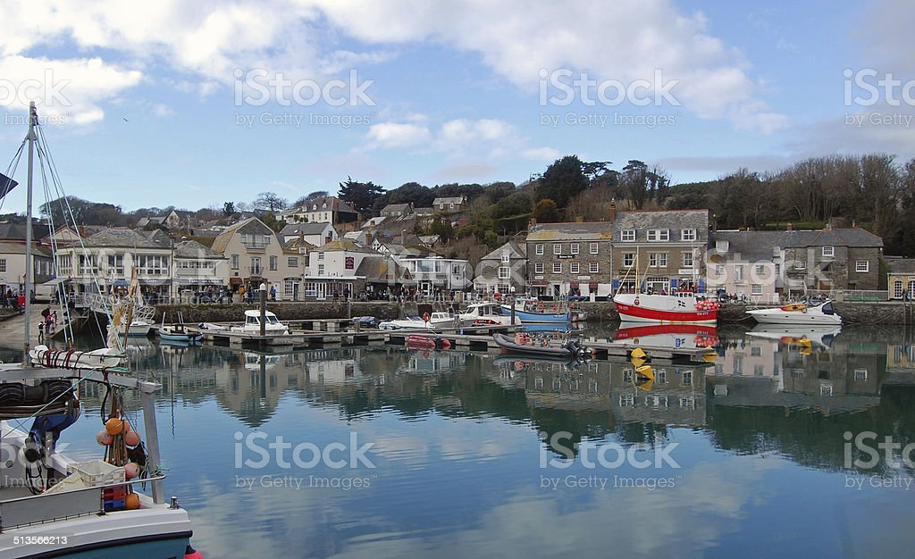 padstow harbour stock photo