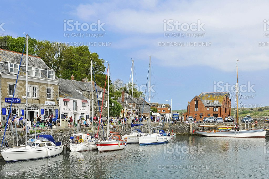 Padstow in Cornwall, UK stock photo
