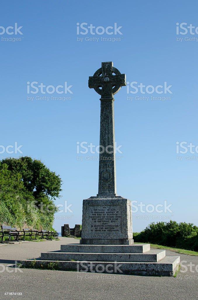 Padstow war memorial royalty-free stock photo