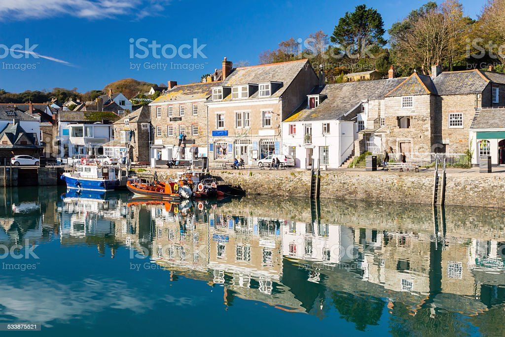 Padstown Harbour Cornwall stock photo