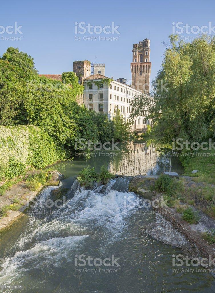 Padua, ancient medieval tower called 'La Specola' stock photo