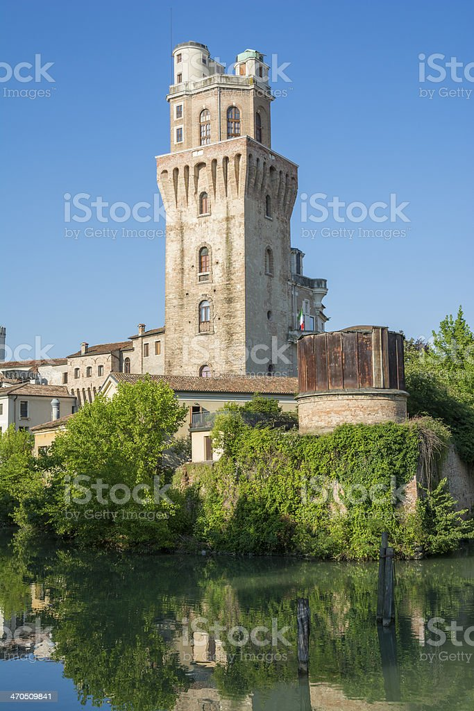 Padua (Italy), the astronomical observatory (called 'La Specola)' stock photo