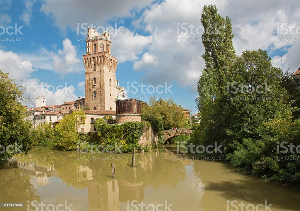 Padua - The Spegola old observatory tower. stock photo