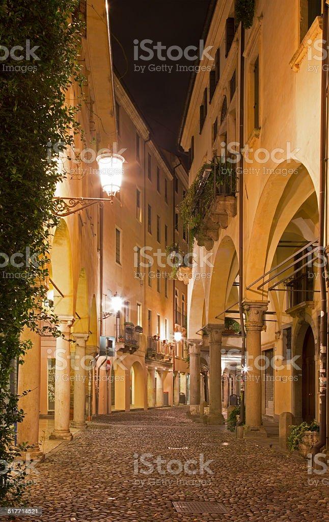 Padua - The street of gheto at night. stock photo