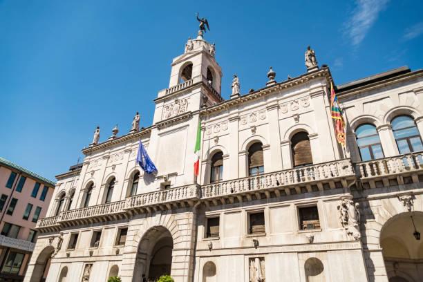 Padua university. Popular touristic European destination. Padua city view stock photo