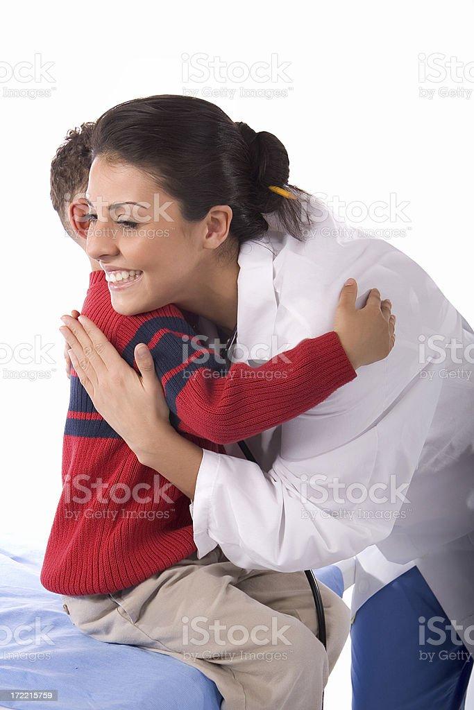 Paediatric Hug royalty-free stock photo