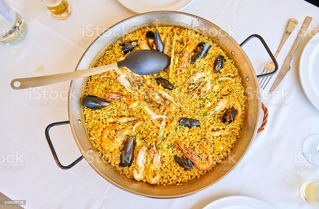 Paella in Valencia stock photo
