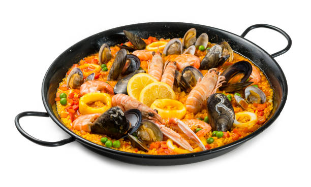 paella - paella stockfoto's en -beelden