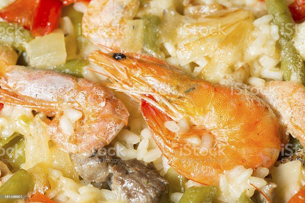 Paella rice royalty-free stock photo