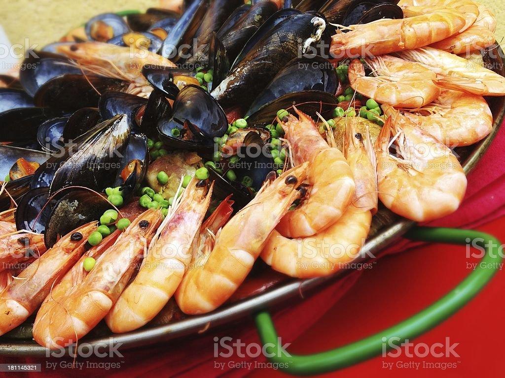 Paella Seafood Platter royalty-free stock photo