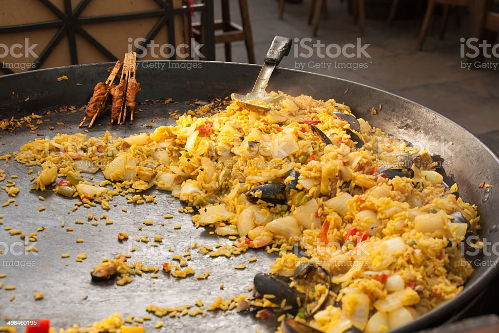 Paellera in covent garden royalty-free stock photo