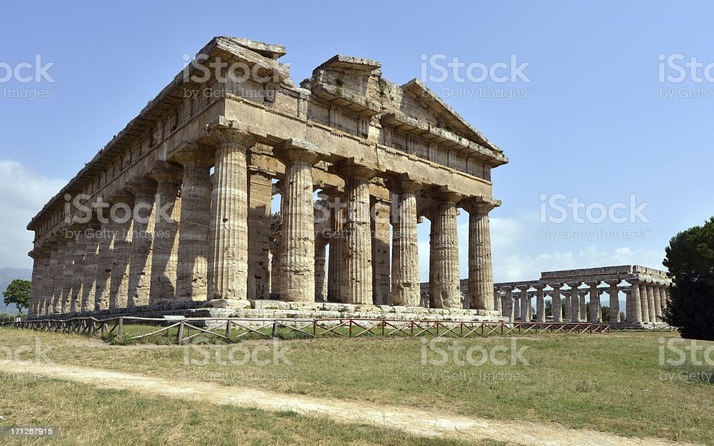 Paestum Ancient Columns royalty-free stock photo