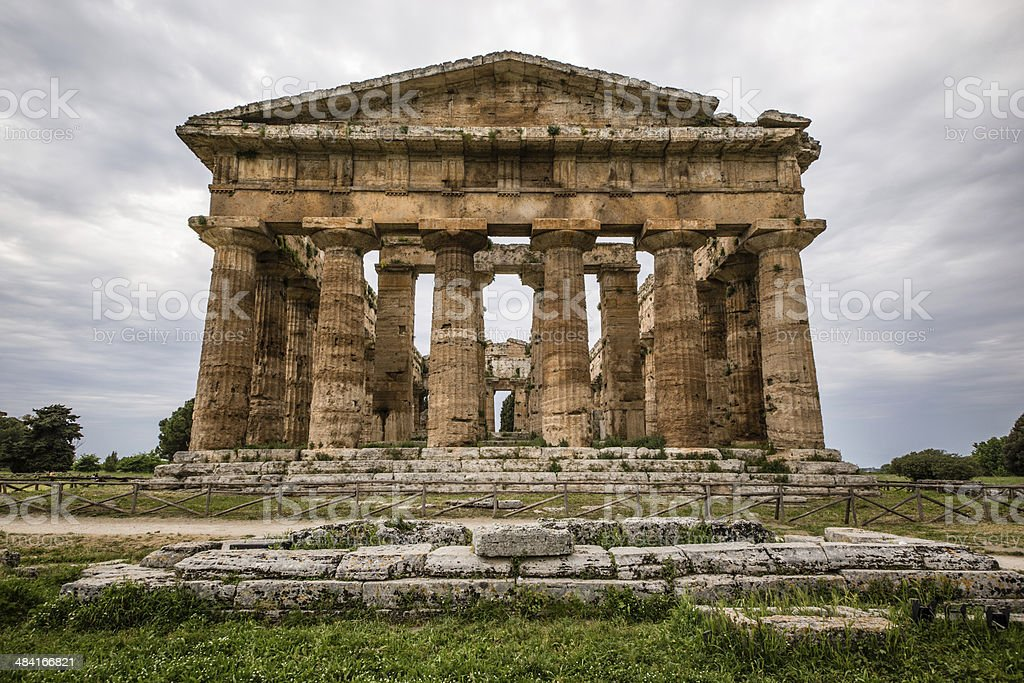 Paestum Neptune Temple royalty-free stock photo