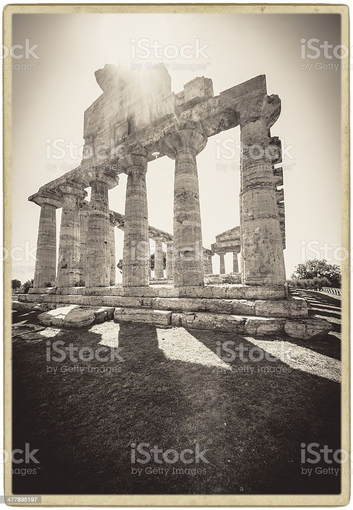 Paestum, Temple of Athena. royalty-free stock photo