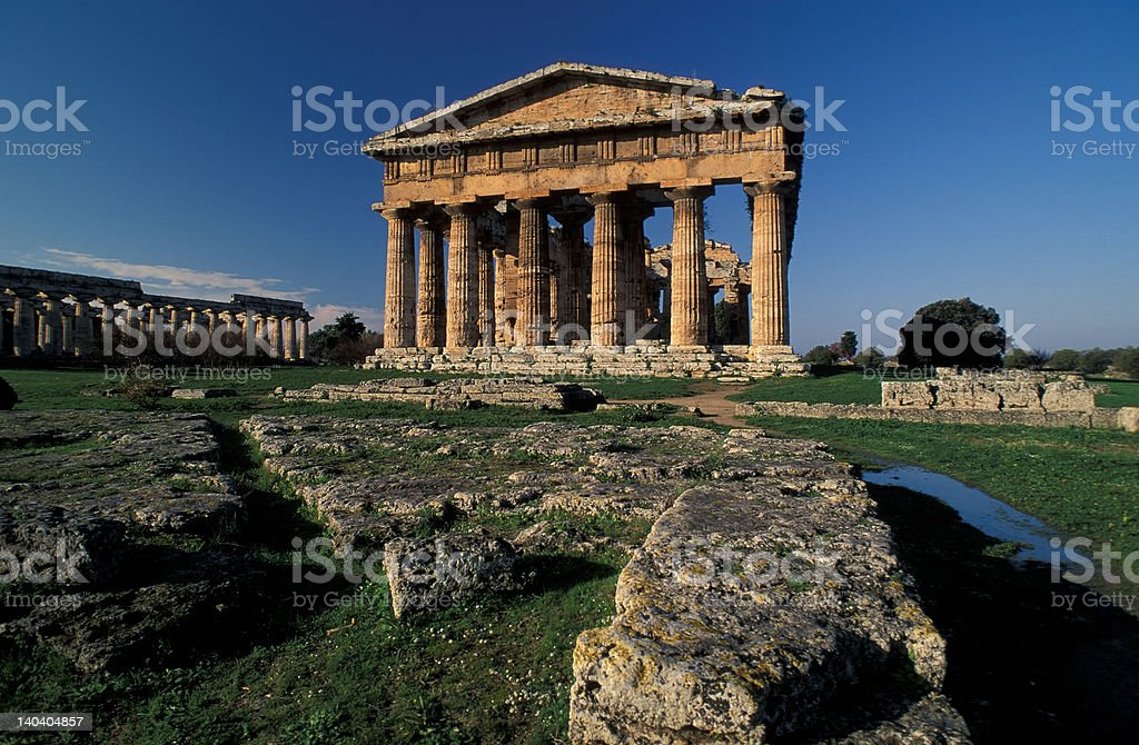 Paestum Temple royalty-free stock photo