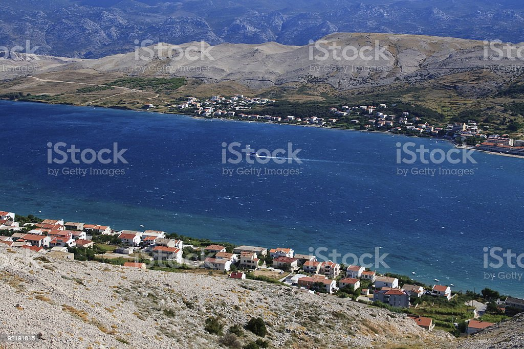 Pag - Croatia stock photo