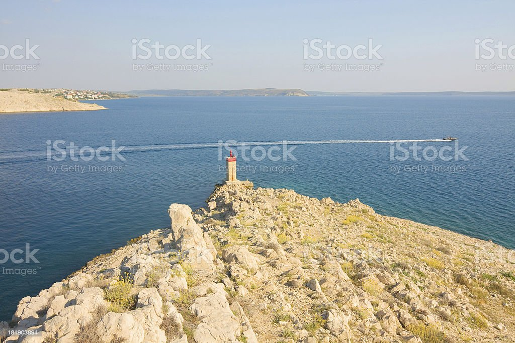 Pag, landscapes in Croatia royalty-free stock photo