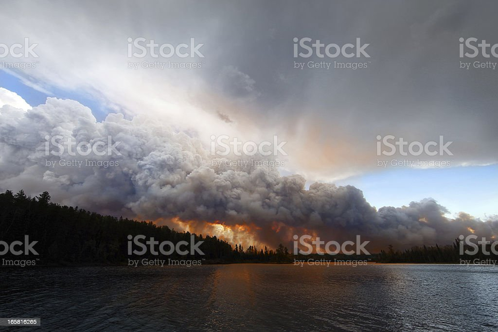 Pagami Creek Wildfire stock photo