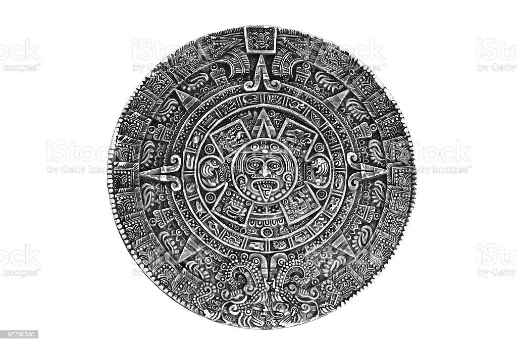 Pagan ornament a sun stone royalty-free stock photo