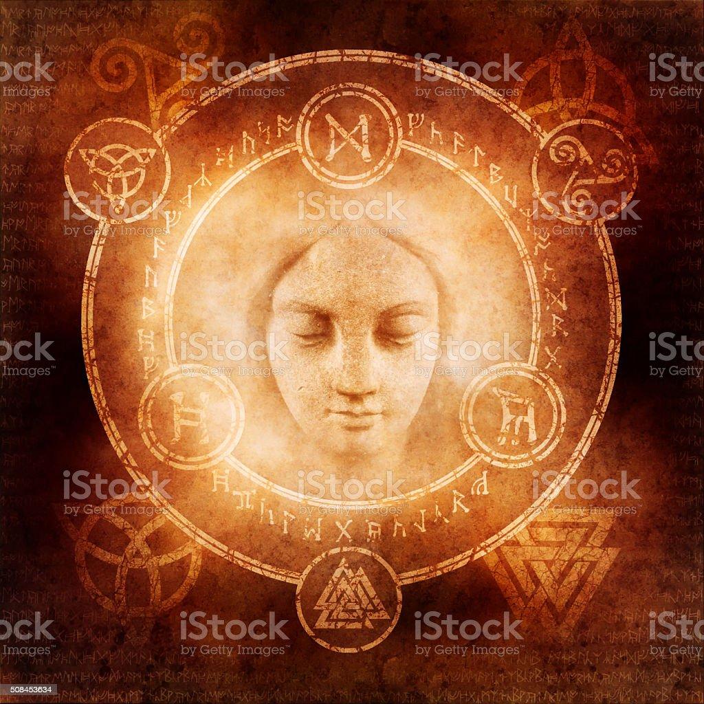 Pagan White Magic stock photo